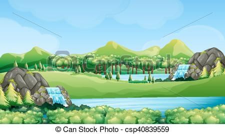 76 Waterfalls free clipart.