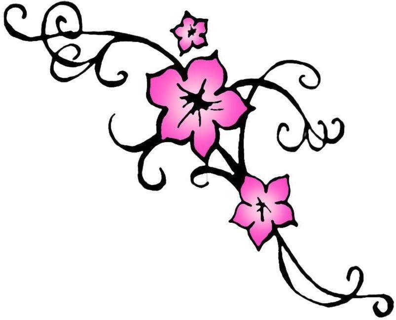 Tribal Cherry Blossom Tattoo (3).