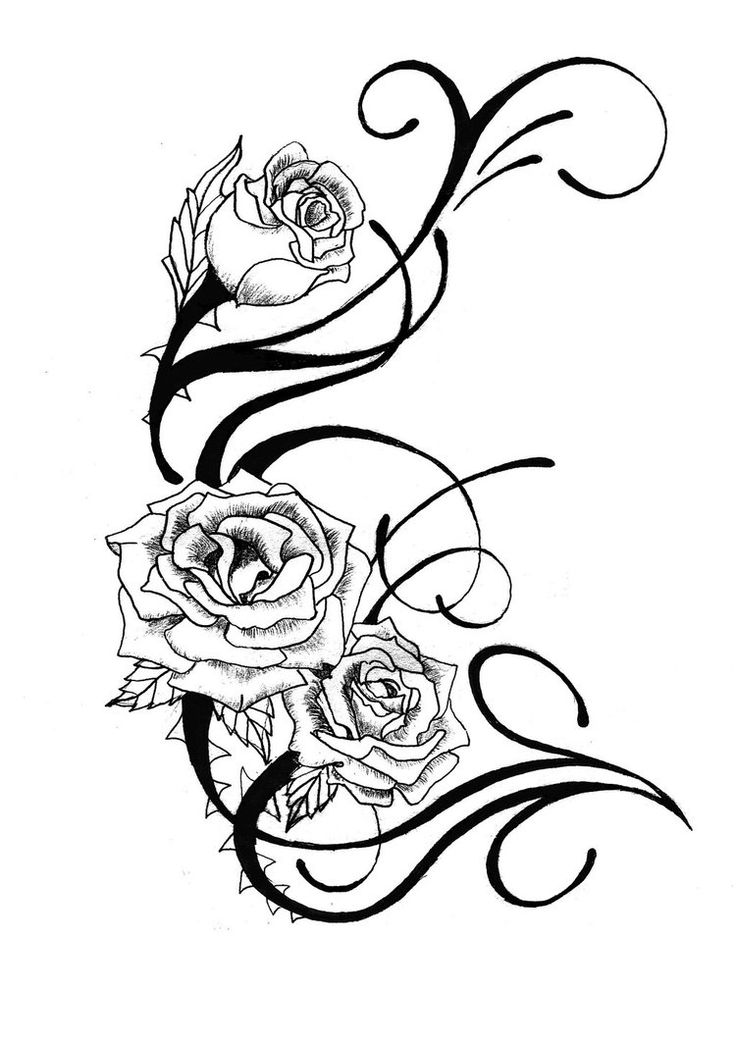 Free Black And White Flower Tattoo Designs, Download Free.