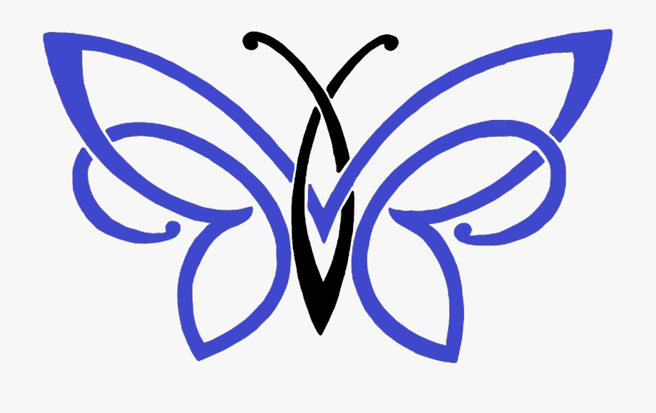 Simple Butterfly Pencil Drawing Clipart , Png Download.