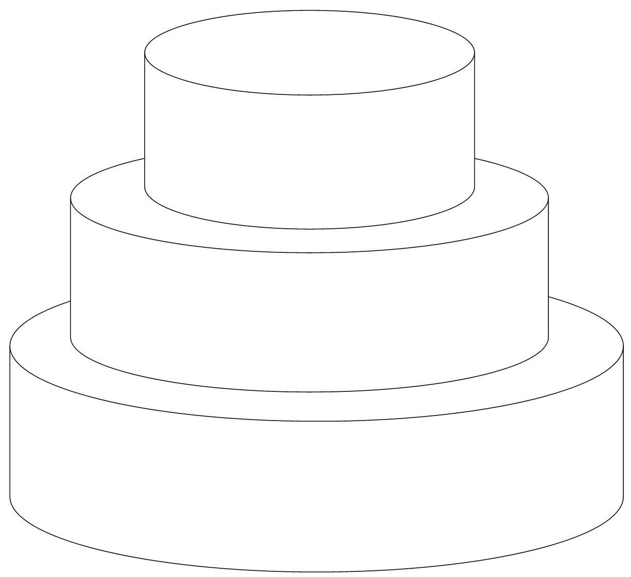 Clip Art Black And White Tiered Cake Clipart#1945091.