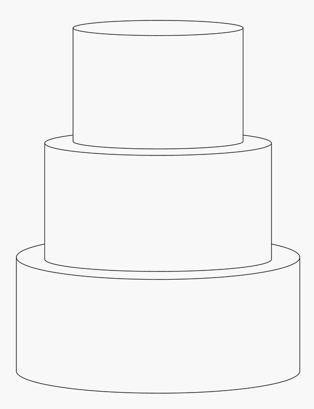 design a wedding cake template three tier cake clipart clipground 13465