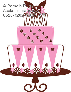 3 tier cake clipart.