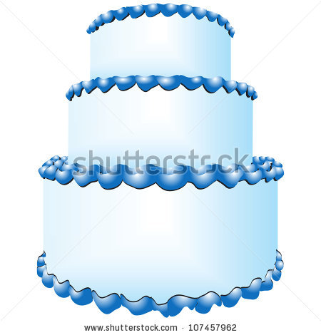 Three Tier Cake Stock Images, Royalty.