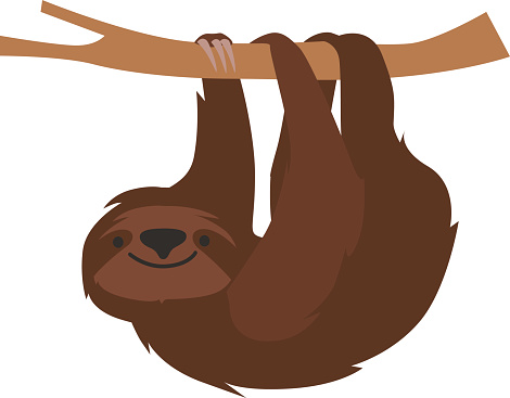 Sloth Clip Art, Vector Images & Illustrations.
