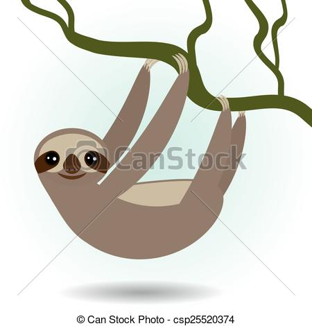 Three toed sloth Vector Clipart Illustrations. 36 Three toed sloth.