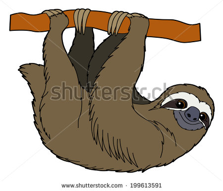 Cartoon Sloth Stock Images, Royalty.