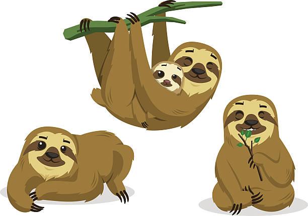 Three Toed Sloth Clipart.