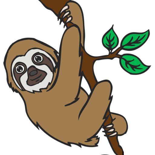Three toed sloth clipart clipground.