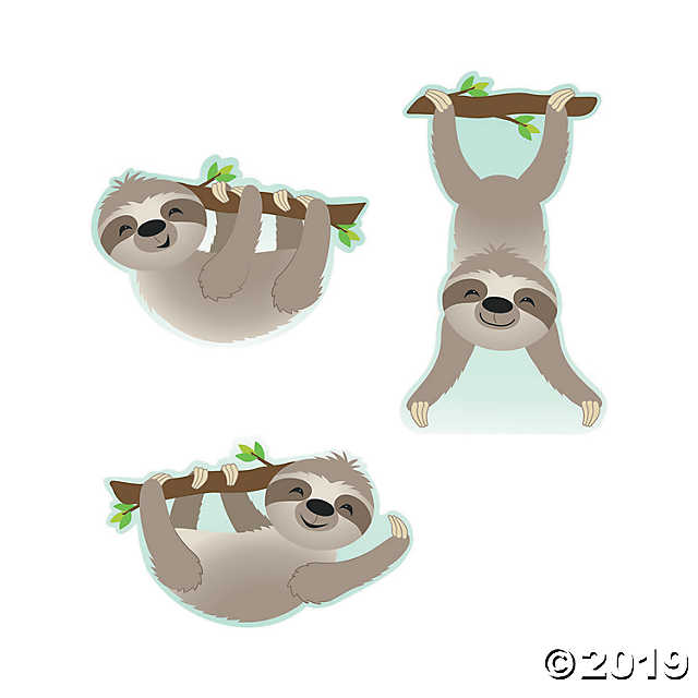 Sloth Bulletin Board Cutouts.