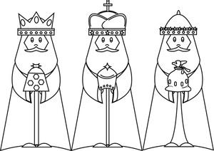 3 Wise Men Clipart.