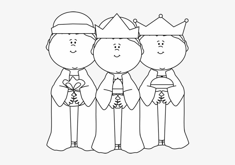 Black And White Three Wise Men Clip Art.