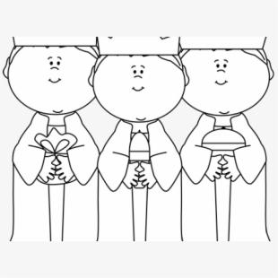 Black And White 3 Wise Men , Transparent Cartoon, Free.