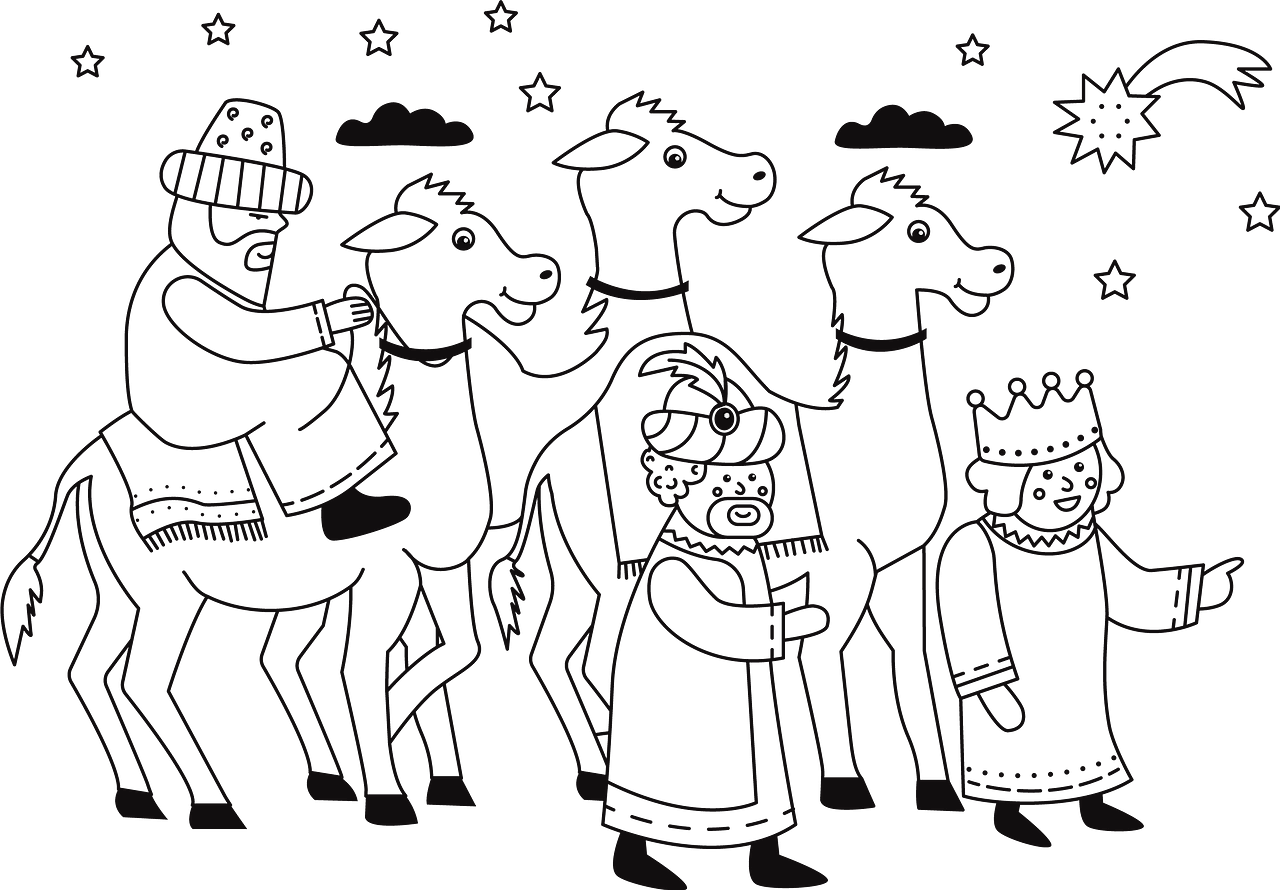 Three Wise Men clipart. Free download..
