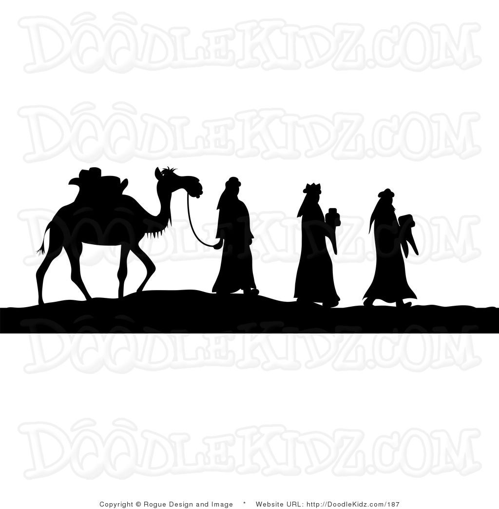 wise men silhouette.