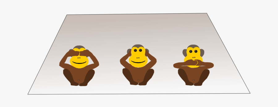 Yellow,monkey,three Wise Monkeys.