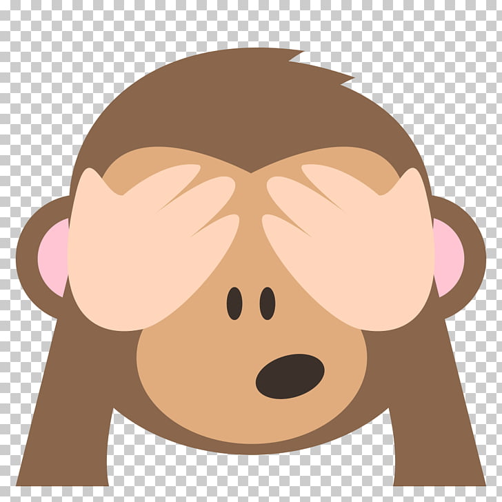Emoji Three wise monkeys Emoticon Evil, Evil, brown monkey.