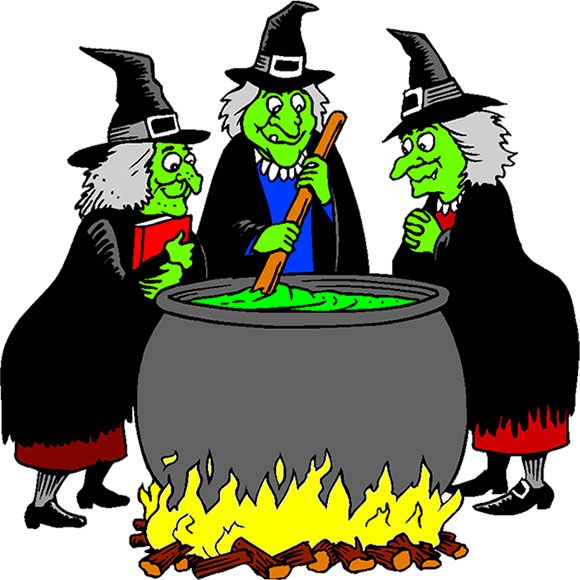 Cartoon Pictures Of Witches.
