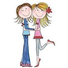 Image result for women walking together clipart.