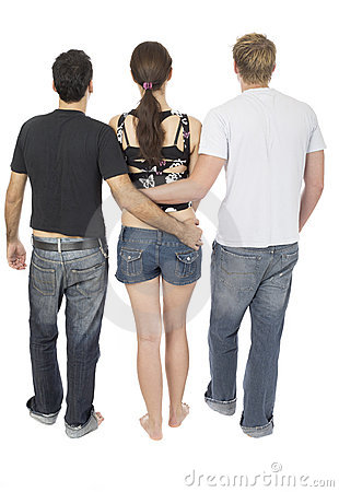 Threesome Stock Image.