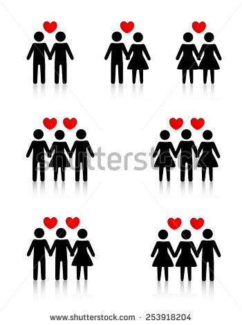 Threesomes clipart.