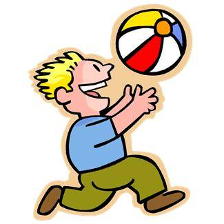 Boy Throwing Ball Clipart.