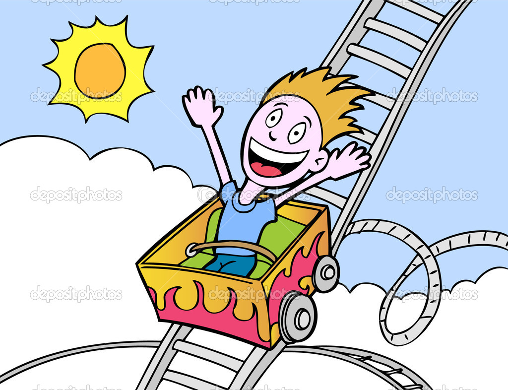 Roller coaster ride clipart.