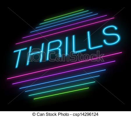 Clip Art of Thrills sign..