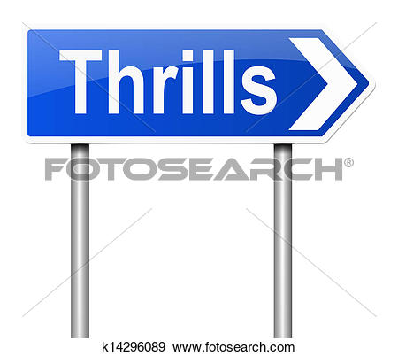 Stock Illustration of Thrills sign. k14296089.