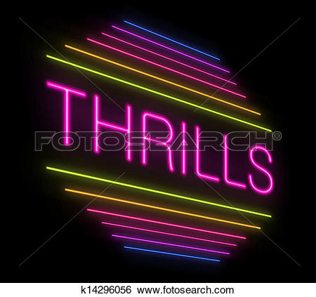 Stock Illustration of Thrills sign. k14296056.