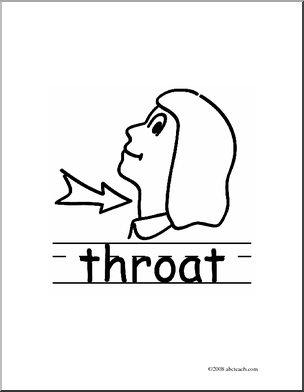 Throat clipart black and white.