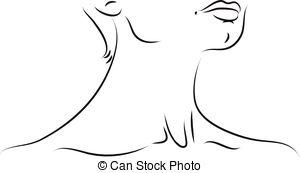 Throat Clip Art.