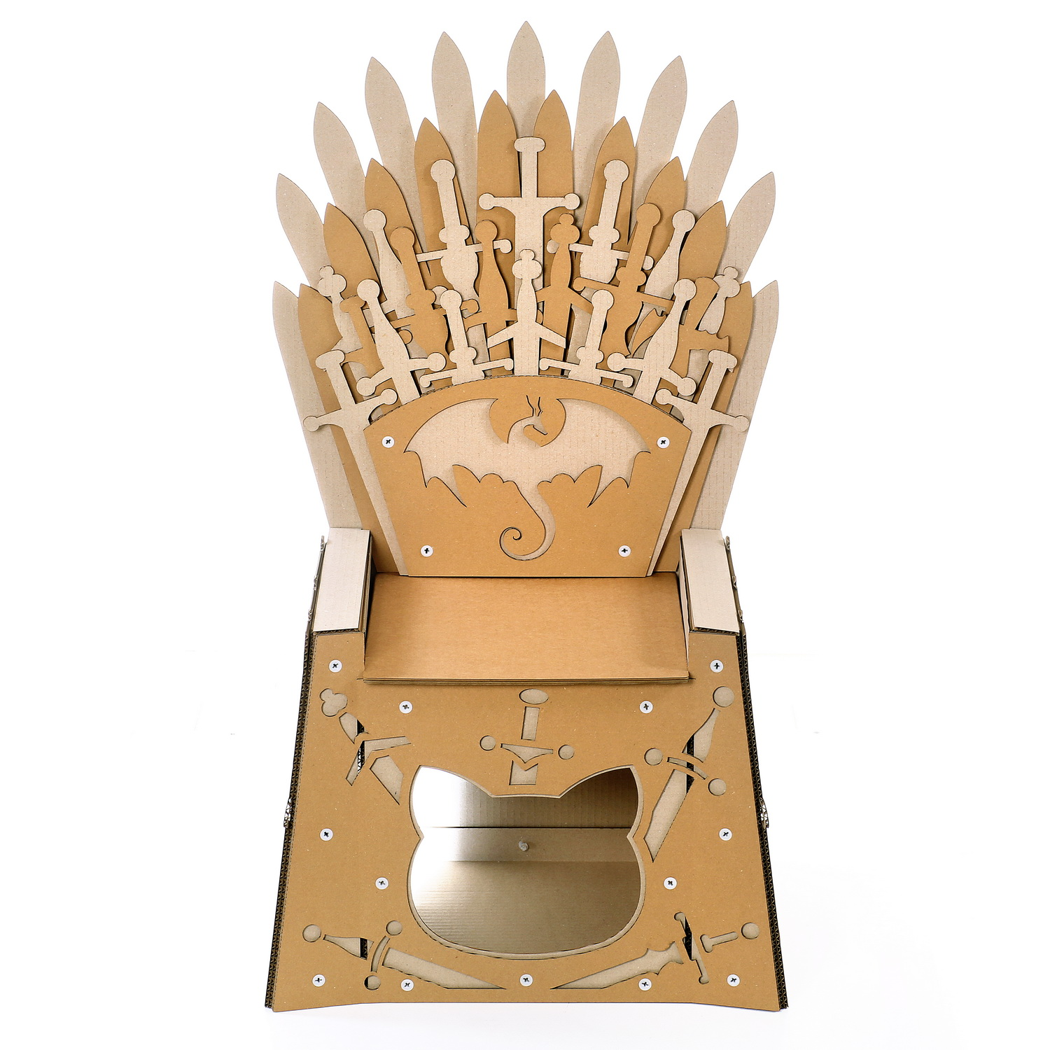 Iron Throne Cardboard Cat House.