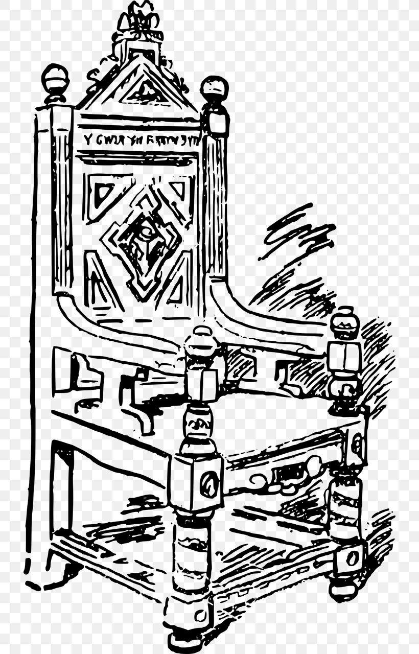Throne Coronation Chair Line Art Clip Art, PNG, 728x1280px.