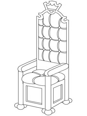 King On Throne Clipart Black And White.