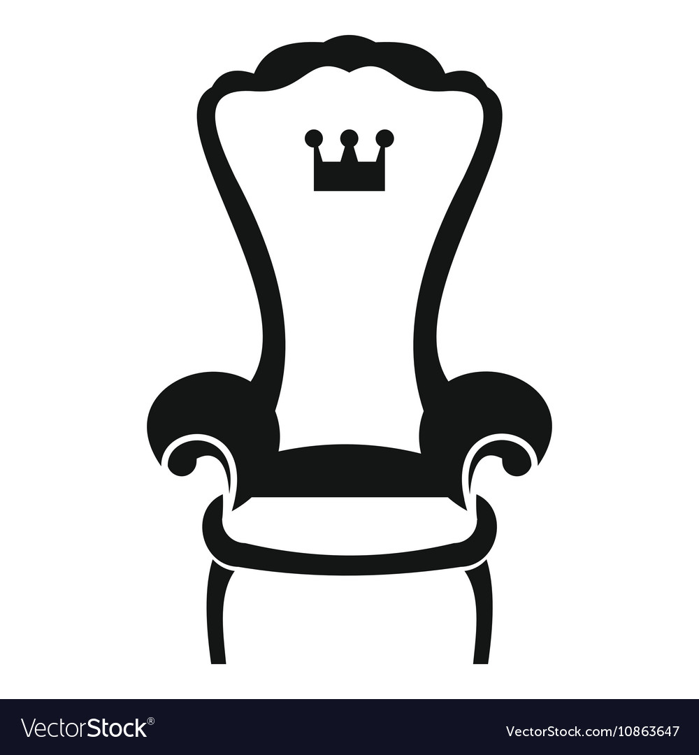 King throne chair icon simple style.