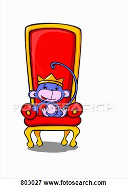 King Sitting On Throne Clipart.