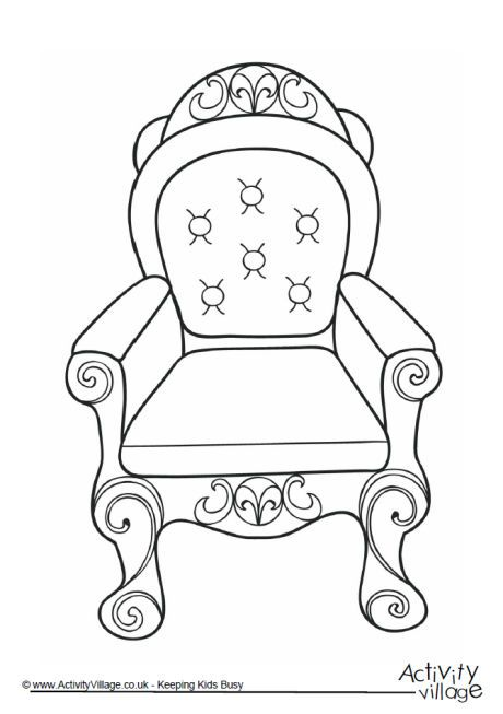 Throne colouring page 2.