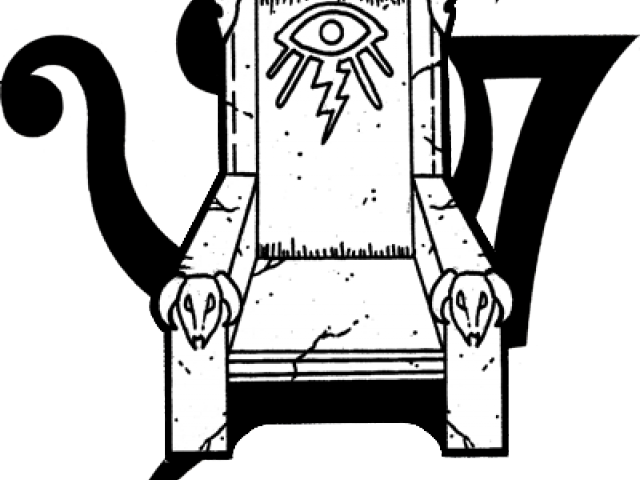Throne Clipart Black And White , Transparent Cartoon.
