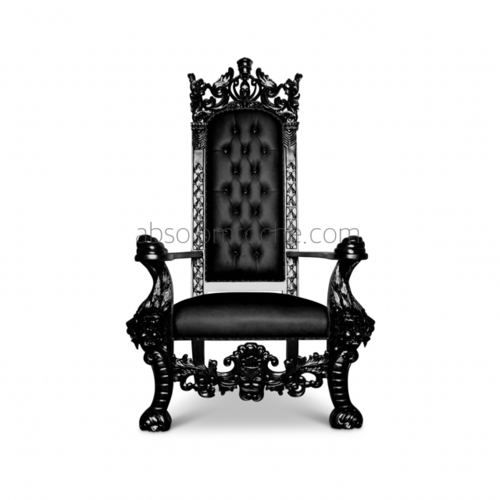 King On Throne PNG Black And White Transparent King On.