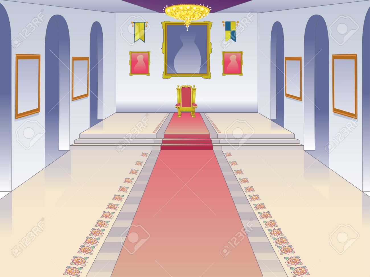 Throne Room Clipart.