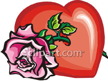 A Heart With A Rose Through It.