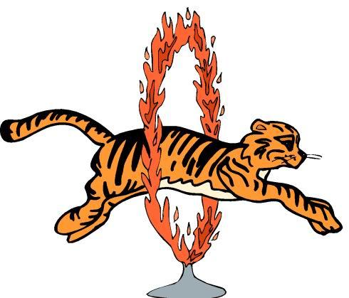 Circus Tiger Clipart.