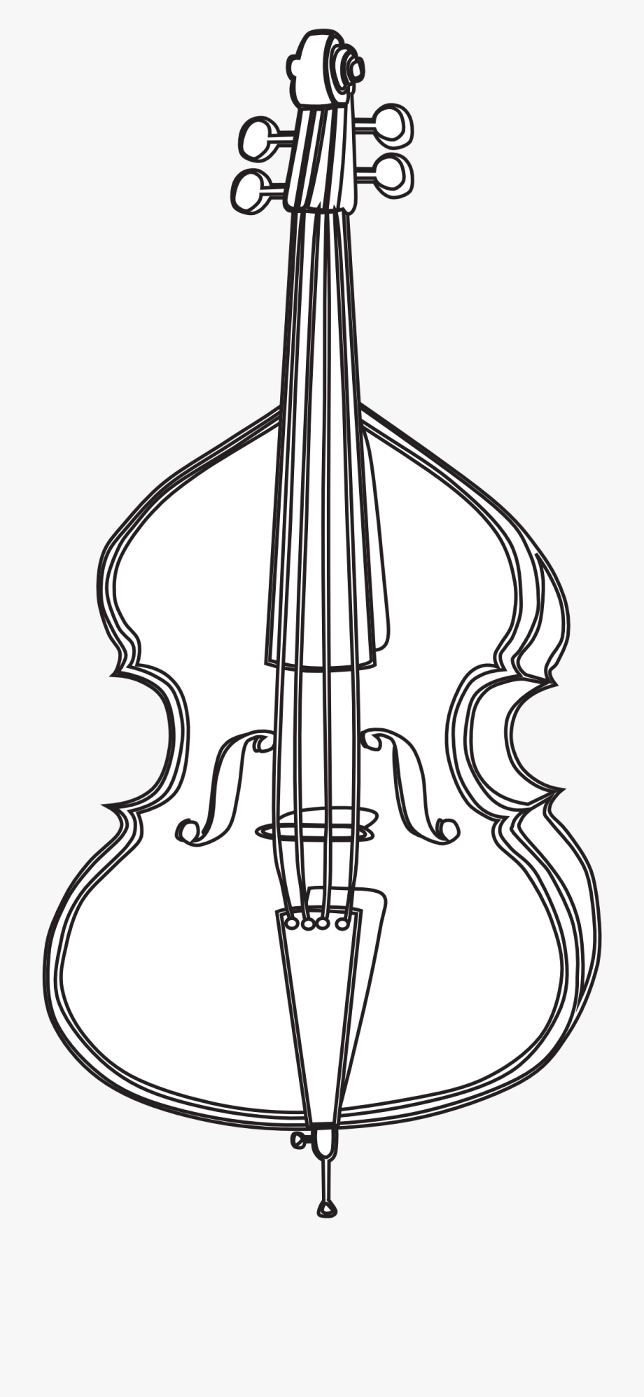 Cello Black And White Clipart Uploaded By The Best.