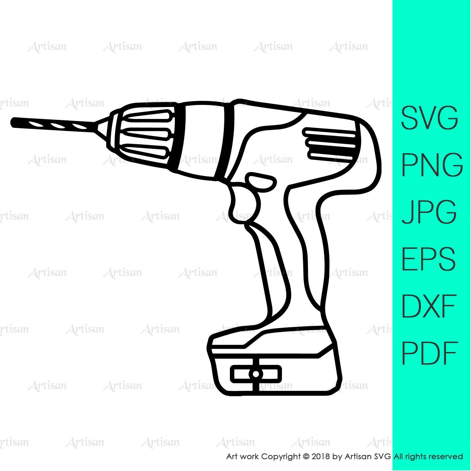 Tool svg drill machine clipart tool clipart fathers day svg.