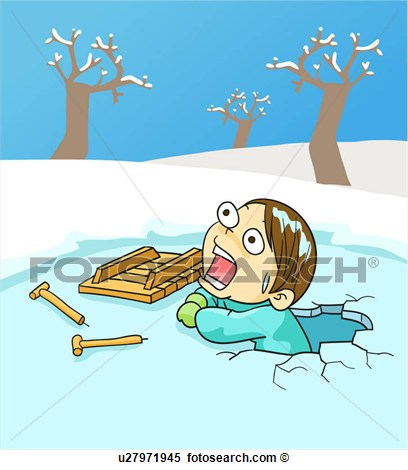 Falling On Ice Clipart.