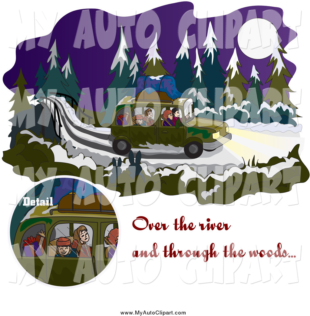 Over the River and through the Woods Clip Art.
