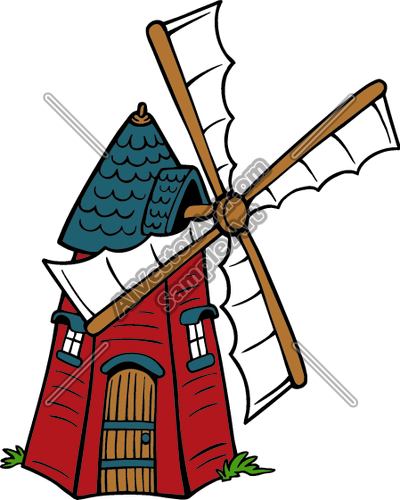 Clip Art. Windmill Clipart. Stonetire Free Clip Art Images.