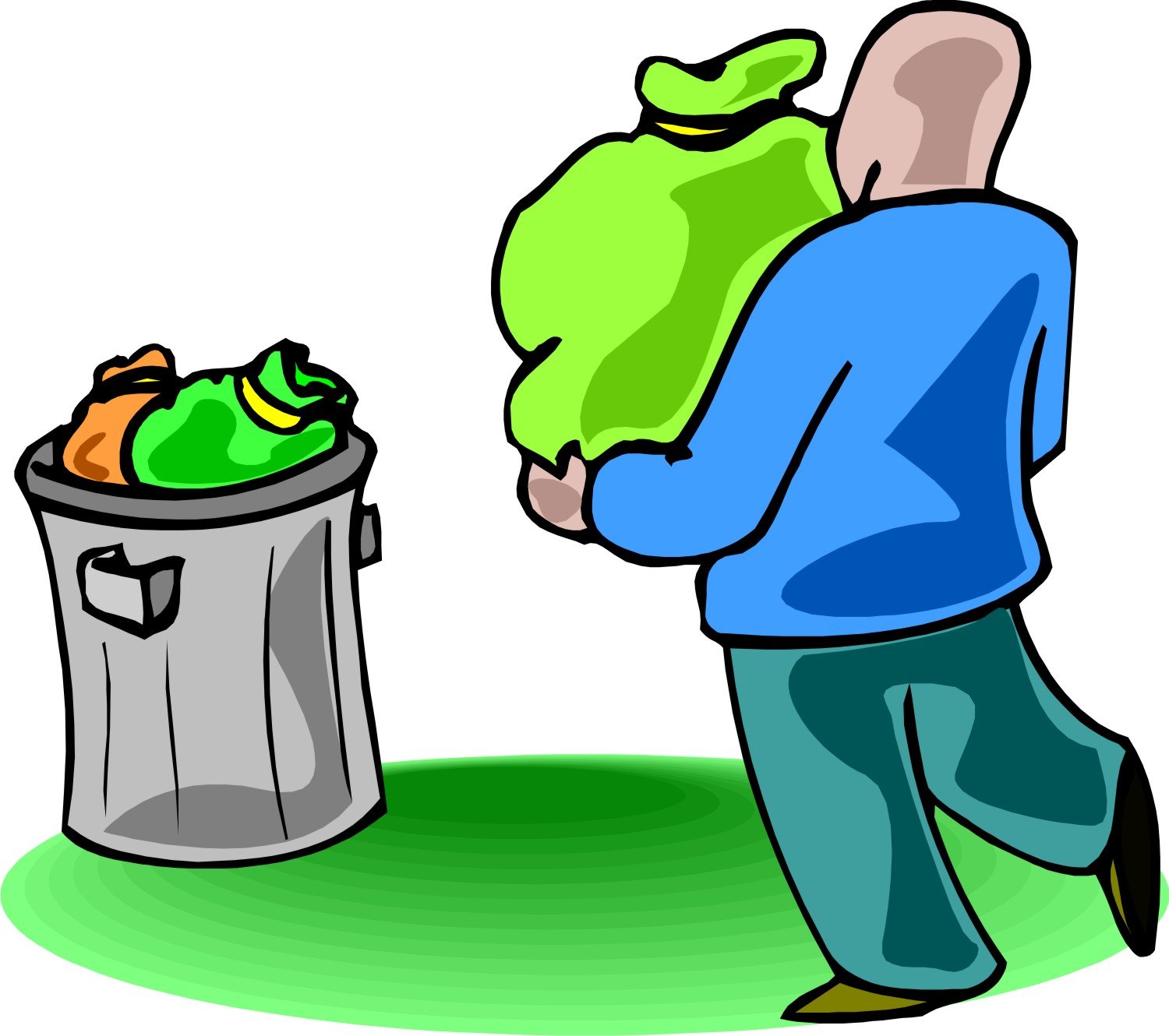 Throw away trash clipart.