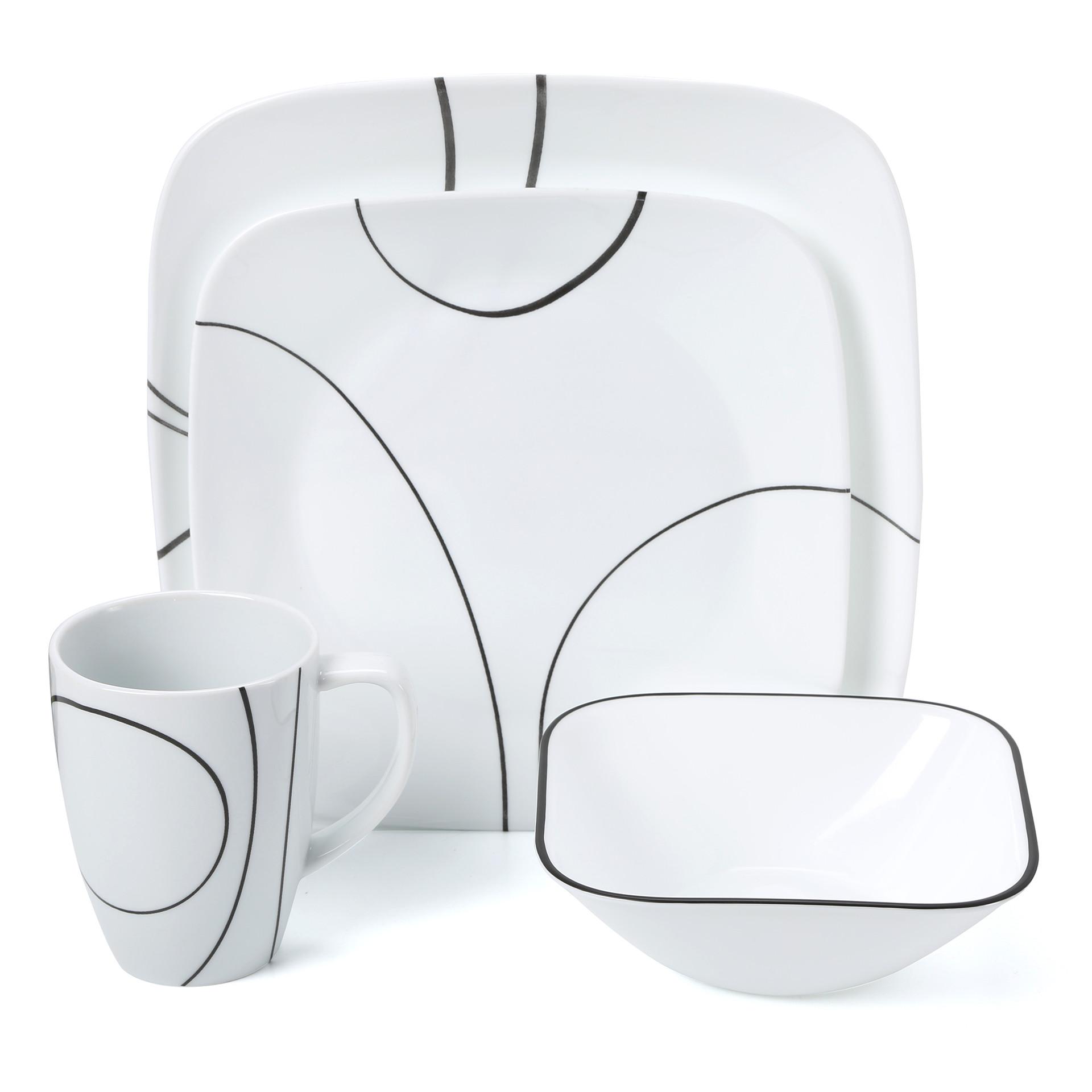 Corelle Simple Lines 16 Piece Dinnerware Set & Reviews.